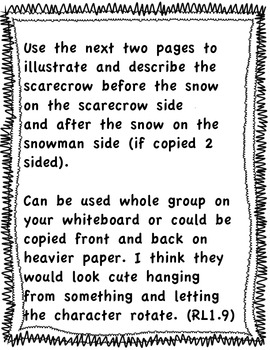 The Lonely Scarecrow Comprehension/Character Comparison