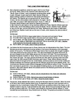 The Lone Star Republic, AMERICAN HISTORY LESSON 69 of 150, Fun Map Exercise+Quiz