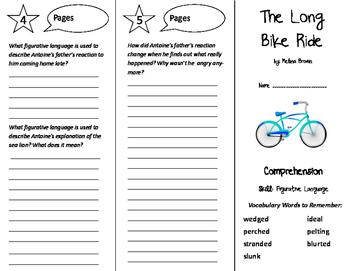 The Long Bike Ride Trifold - Storytown 6th Grade Unit 3 Week 2