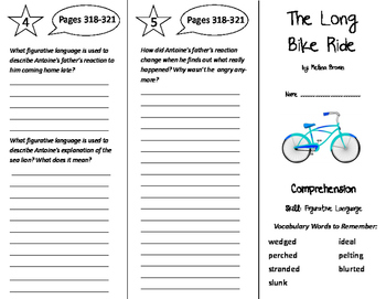 The Long Bike Ride Trifold - Storytown 6th Grade Unit 3 Week 2