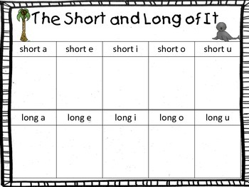 The Long and Short of It:  Write the Room with Long and Short Vowels