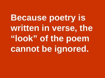 The Look of the Poem
