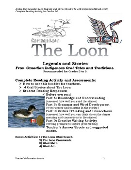 The Loon Legends and Stories From Canadian Indigenous Oral Tales and Traditions.