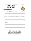 The Lorax (1972 film version) Class Discussion Questions