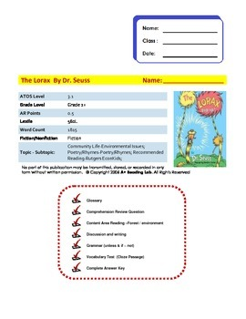 The Lorax Assessment