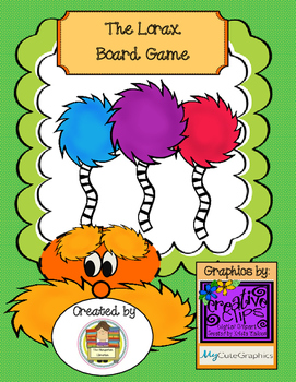 The Lorax Board Game - Perfect for Earth Day or Dr. Seuss Author Study!