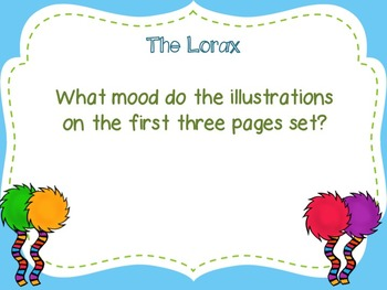 The Lorax Comprehension & Discussion Questions