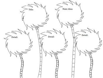 The Lorax Comprehension Truffula Trees