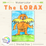 Easy Art Project Digital Lesson The Lorax Directed Draw in