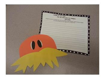 The Lorax Earth Day Craft