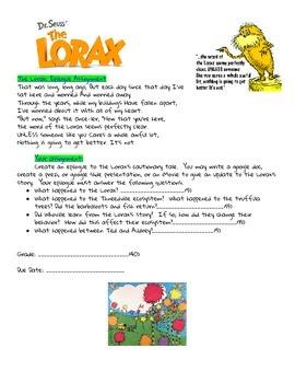 The Lorax Epilogue Assignment