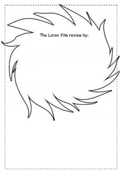 The Lorax Film or Book Study