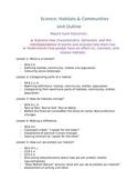The Lorax: Habitats and Communities Science Unit (4/5)