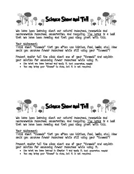 The Lorax: Science Show and Tell