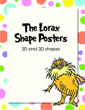 The Lorax Shape Posters
