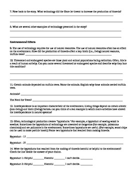 The Lorax Worksheet-Earth Day Activity-Humans and Environment Lesson