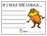 The Lorax Writing: Celebrating Dr. Seuss!