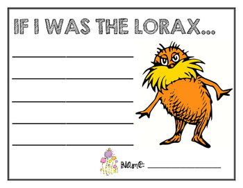 The Lorax Writing: Celebrating Dr. Seuss!