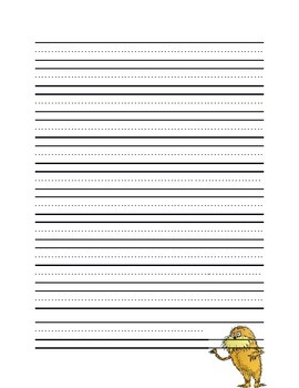 The Lorax Writing Page