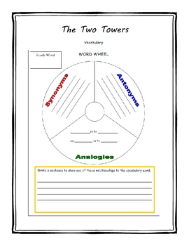 The Lord of the Rings Part 2:The Two Towers Literature Unit