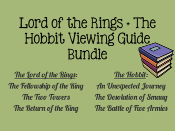 The Lord of the Rings + The Hobbit Viewing Guide Bundle
