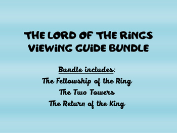 The Lord of the Rings Viewing Guide Bundle