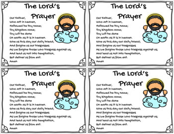 The Lord's Prayer Card 2