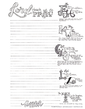 The Lord's Prayer Bible Journal Page
