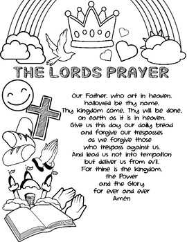 Lords Prayer Coloring Worksheets Teaching Resources Tpt