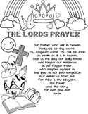 The Lord's Prayer (COLORING PAGE & ACTIVITY SHEET)