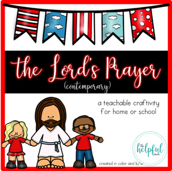 The Lord's Prayer - Craftivity {Contemporary version}
