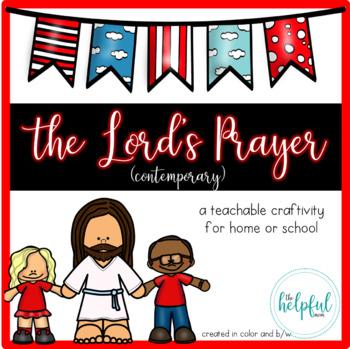 The Lord's Prayer - Craftivity {Contemporary version}