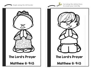 The Lord's Prayer Flip Book