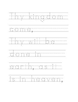 The Lord's Prayer Handwriting Practice