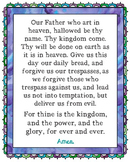 The Lord's Prayer Poster. Prayer, Blessings, Homeschool, Religious.