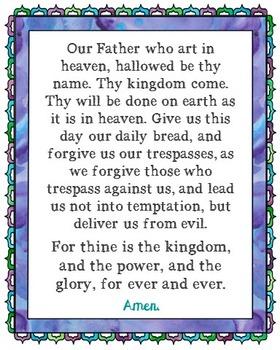 The Lord's Prayer Poster. Prayer, Blessings, Homeschool, Religious.