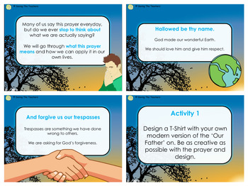 The Lord's Prayer PowerPoint and Activities
