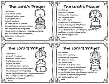 The Lord's Prayer Card