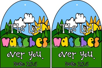 The Lord watches over you craft- Bible verse craft