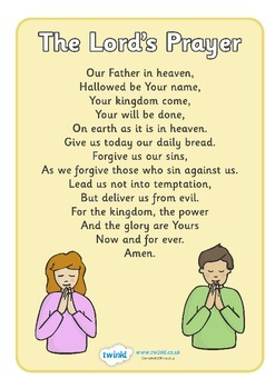 The Lord's Prayer Display Posters