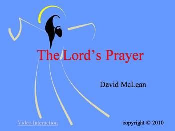 The Lord's Prayer PowerPoint and worksheets