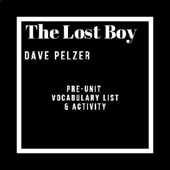 The Lost Boy: Vocabulary & Accompanying Worksheet
