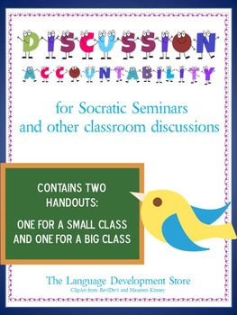 Discussion Accountability/Socratic Seminar Tracking Sheet