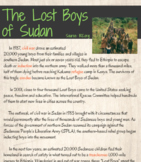 The Lost Boys of Sudan lesson with supplemental docs and p