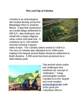 The Lost City of Cahokia