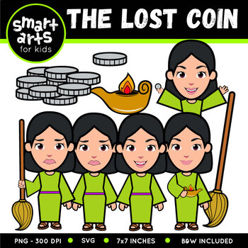 The Lost Coin Clip Art