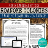 The Lost Colony Reading Comprehension Passages (Roanoke Colony)