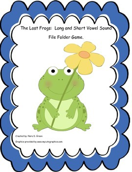 The Lost Frogs: Long and Short Vowel Sound File Folder Game