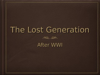 The Lost Generation Lecture