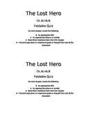 The Lost Hero: Quiz Ch. XLI-XLIX